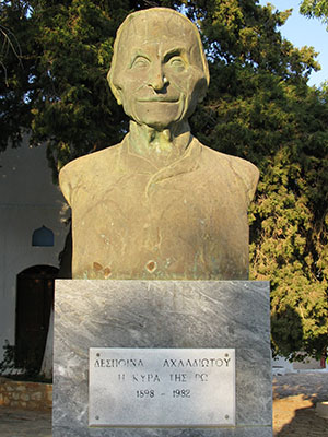 Monument to Despina Achladiotou, The Lady of Ro, in the Horafia district, Kastellorizo, Greece at My Favourite Planet