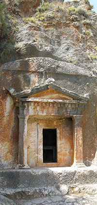 The Lycian rock-cut tomb, Kastelorizo island, Greece at My Favourite Planet