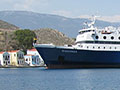 The Diagoras ferry in Kastellorizo harbour, Greece at My Favourite Planet