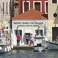 Kastellorizo's bank and ATM at My Favourite Planet