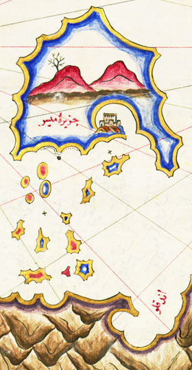 An 18th century map of the Lycian coast at My Favourite Planet