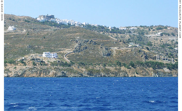 The Monastery of Saint John and Hora, the main village of Patmos island, Greece at My Favourite Planet