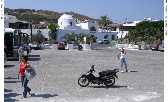 The ferry port of Skala, the main harbour of Patmos island, Greece at My Favourite Planet