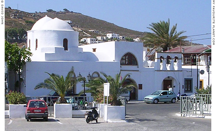 The port of Skala, the main harbour of Patmos island, Greece at My Favourite Planet