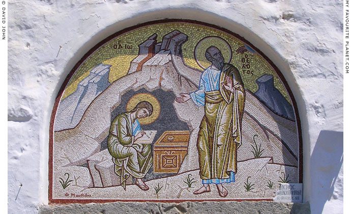 A mosaic at the Monastery of the Apocalypse, Patmos island, Greece at My Favourite Planet