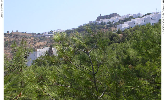 The village Hora and the Monastery of Saint John from the Monastery of the Apocalypse, Patmos, Greece at My Favourite Planet