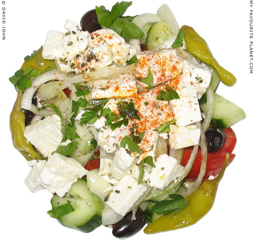 A Greek salad at My Favourite Planet