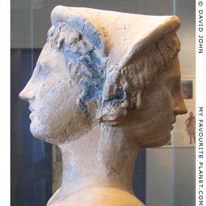 Double bust of the god Attis in Amphipolis Archaeological Museum, Macedonia, Greece at My Favourite Planet