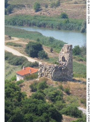 Medieval tower outside Amphipolis, Macedonia, Greece at My Favourite Planet