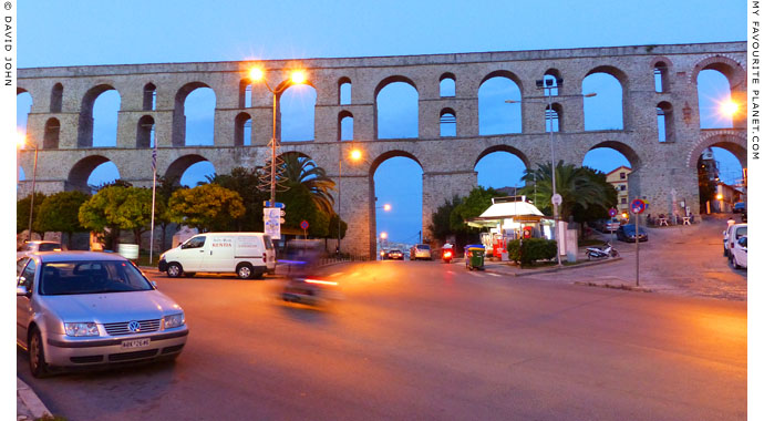 The Kamares aqueduct in the early evening, Kavala, Macedonia, Greece at My Favourite Planet