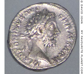 Silver coin of Roman Emperor Antoninus Pius at My Favourite Planet