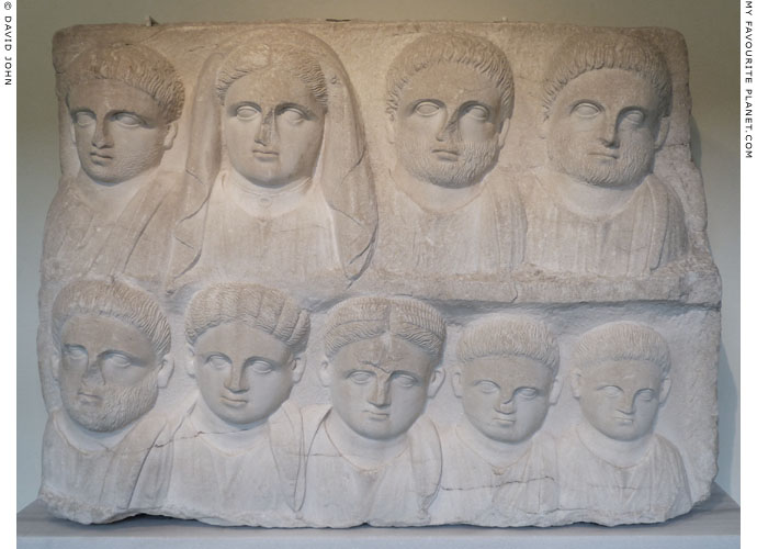 Funerary relief depicting members of a family at My Favourite Planet