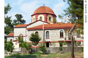 The church of Apostle Silas at the Monastery of Agios Silas, Kavala, Macedonia, Greece at My Favourite Planet