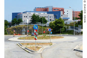 The new General Hospital, near the start of the ancient Via Egnatia, Kavala, Macedonia, Greece at My Favourite Planet