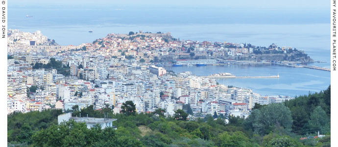 Panoramic view of Kavala from the Via Egnatia Roman road at My Favourite Planet