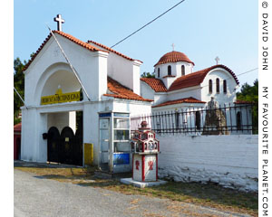The entrance to the Monastery of Agios Silas, Kavala, Macedonia, Greece at My Favourite Planet
