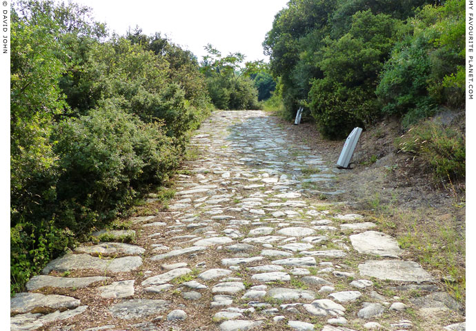 Part of the ancient Via Egnatia at Kavala, Macedonia, Greece at My Favourite Planet