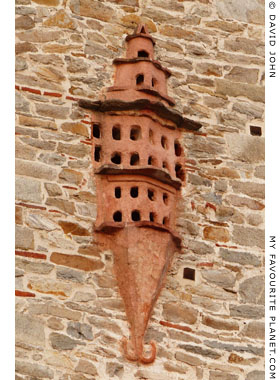 A dovecote built into the Kamares aqueduct, Kavala, Macedonia, Greece at My Favourite Planet