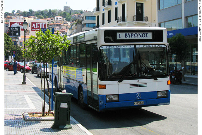 Local Kavala city bus at My Favourite Planet