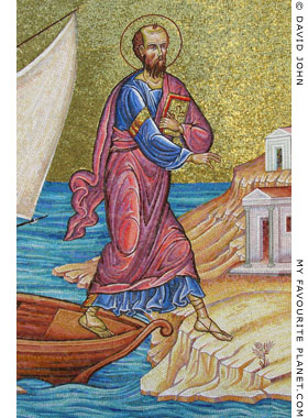 Mosaic of the Apostle Paul Monument, Kavala, Macedonia, Greece at My Favourite Planet