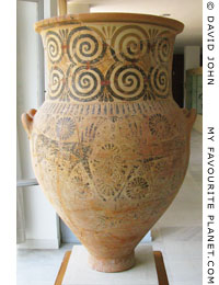 Melian amphora, 7th century BC, in Kavala Archaeological Museum, Macedonia, Greece at My Favourite Planet