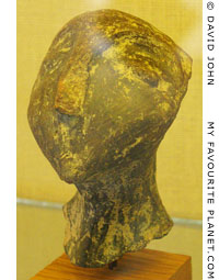 Head of a terracotta figurine from the prehistoric settlement of Dikili Tash at My Favourite Planet