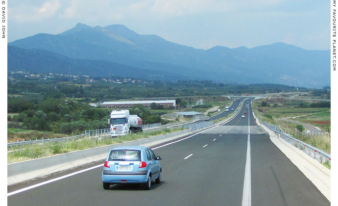 The Egnatia Odos motorway east of Kavala, Macedonia, Greece at My Favourite Planet