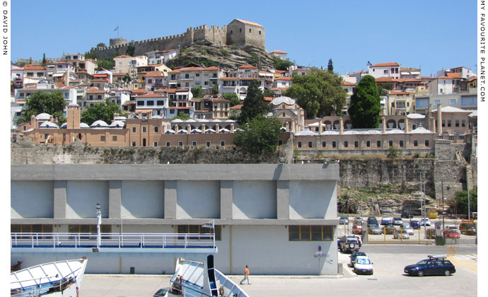 The Imaret viewed from Kavala's main harbour at My Favourite Planet