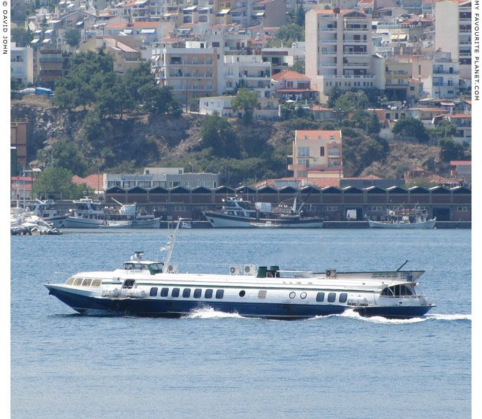 Hydrofoil Maria F departing from Kavala harbour for Thasos at My Favourite Planet
