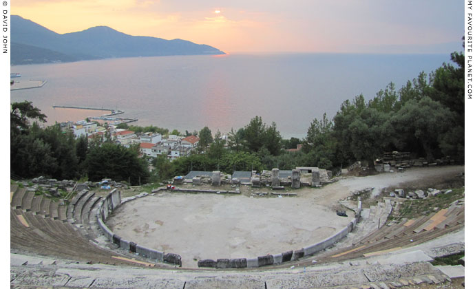 The ancient theatre of Thasos at My Favourite Planet