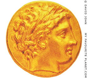 Gold stater of Philip II of Macedon at My Favourite Planet