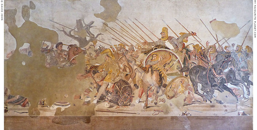 Mosaic of Alexander the Great and Darius III at the Battle of Issus at My Favourite Planet