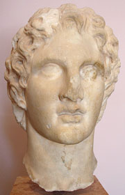 Head of Alexander the Great from the Acropolis, Athens, Greece at My Favourite Planet
