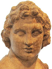 Detail of a statuette of Alexander the Great from Priene, Turkey at My Favourite Planet