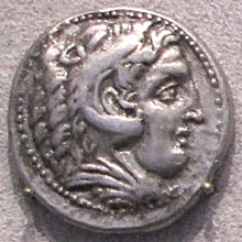 Tetradrachm coin of Alexander the Great from Pella, Macedonia at My Favourite Planet
