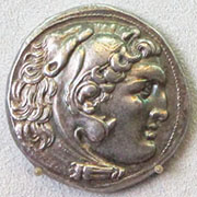 A silver tetradrachm coin of Alexander the Great, Bode Museum, Berlin, Germany at My Favourite Planet