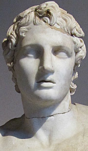 Head of a marble statue of Alexander the Great, Archaeological Museum, Istanbul, Turkey at My Favourite Planet