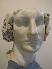 Marble head of Alexander the Great from Kos at My Favourite Planet