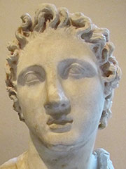 Marble head of Alexander the Great from Kyme at My Favourite Planet