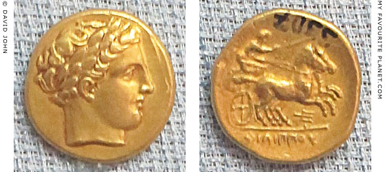 Gold staters of Philip II of Macedonia at My Favourite Planet
