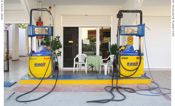 Petrol station in Pella, Macedonia, Greece at My Favourite Planet