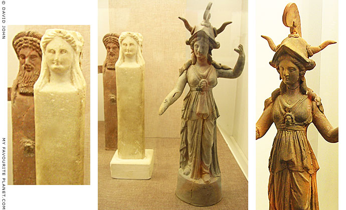 Statuettes of Greek deities, Pella Archaeological Museum, Macedonia, Greece at My Favourite Planet