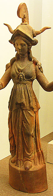 Ceramic statuette of the goddess Athena, Pella, Macedonia, Greece at My Favourite Planet