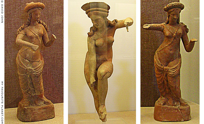 Statuettes of the Greek goddess Aphrodite, Pella Archaeological Museum, Macedonia, Greece at My Favourite Planet