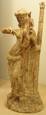 Statuette of a female figure playing a kithara, Pella Archaeological Museum, Macedonia, Greece at My Favourite Planet