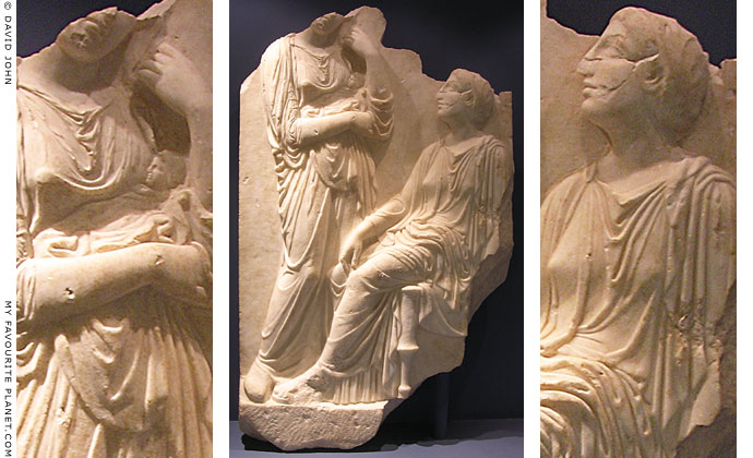 Marble tomb stele, Pella Archaeological Museum, Macedonia, Greece at My Favourite Planet