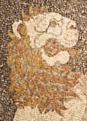 A hunter of the Lion Hunt mosaic, Pella, Macedonia, Greece at My Favourite Planet
