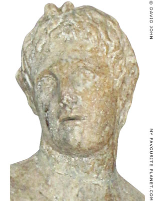 Head of Alexander the Great as Pan, Pella Archaeological Museum, Macedonia, Greece