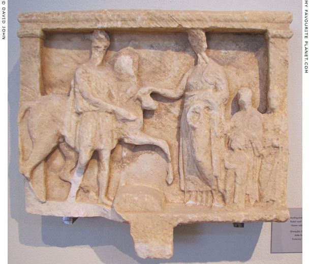 A votive hero horseman relief from Thasos at My Favourite Planet