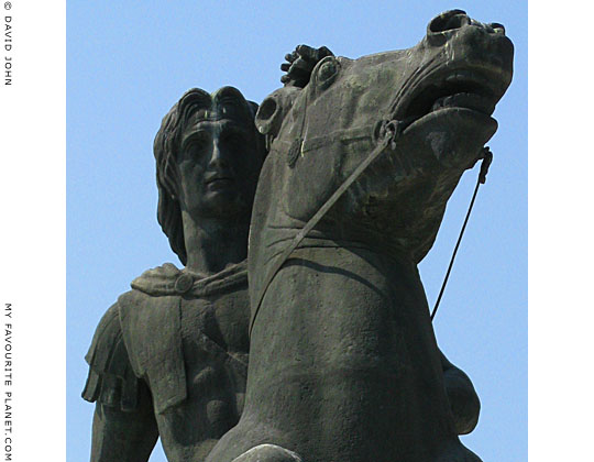 Equestrian statue of Alexander the Great, Thessaloniki, Macedonia, Greece at My Favourite Planet